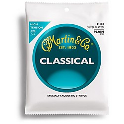 Martin M120 Silverplated Classical Acoustic Guitar Strings (41M120)