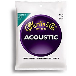 Martin M130 Folk Guitar Silk and Steel Compound Wound Acoustic Strings (41M130)