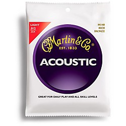 Martin M140 Light Acoustic Guitar Strings (41M140)