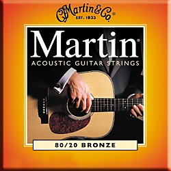 Martin M145 Light/Medium 80/20 Bronze Acoustic Guitar Strings (41M145)