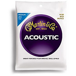 Martin M150 80/20 Bronze Round Wound Medium Acoustic Guitar Strings (41M150)