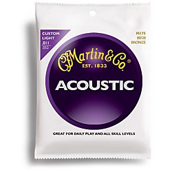 Martin M175 Traditional Bronze Custom Light Acoustic Guitar Strings (41M175)