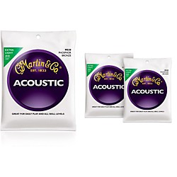 Martin M530 Phosphor Bronze Extra Light Acoustic Guitar Strings - 3 Pack (KIT - M530)