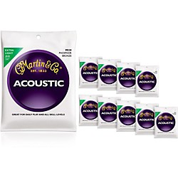 Martin M530 Phosphor Bronze Extra Light Acoustic Guitar Strings 10-Pack (KIT772459)