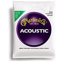Martin M530 Phosphor Bronze Extra Light Acoustic Guitar Strings (41M530)