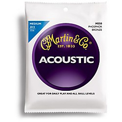 Martin M550 Medium Phosphor Bronze Acoustic Guitar Strings (41M550)