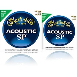 Martin MSP3000 SP Bronze Extra Light Acoustic Guitar Strings (2 Pack) (MPS3000-2PK)