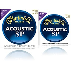 Martin MSP3050 SP 80/20 Bronze Custom Light Acoustic Guitar Strings (2 Pack) (MSP3050-2PK)