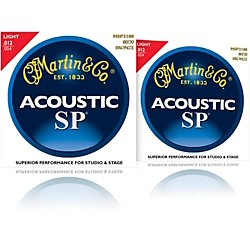 Martin MSP3100 SP 80/20 Bronze Light Acoustic Guitar Strings (2 Pack) (MSP3100-2PK)