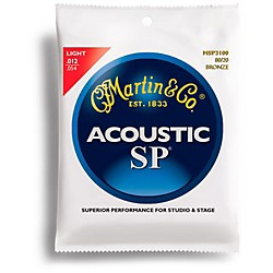 Martin MSP3100 SP 80/20 Bronze Light Acoustic Guitar Strings (41MSP3100)