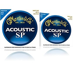 Martin MSP3200 SP 80/20 Bronze Medium Acoustic Guitar Strings 2 Pack (MSP3200-2PK)