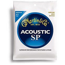 Martin MSP3200 SP 80/20 Bronze Medium Acoustic Guitar Strings (41MSP3200)