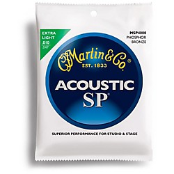 Martin MSP4000 SP Phosphor Bronze Extra Light Acoustic Guitar Strings (41MSP4000)
