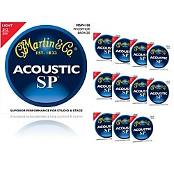 Martin MSP4100 Phosphor Bronze Light Acoustic Strings (12-Pack) (MSP4100-12BF2012)