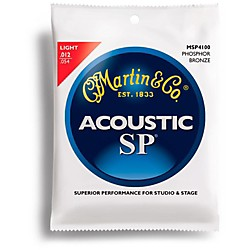 Martin MSP4100 Phosphor Bronze Light Acoustic Strings (41MSP4100)