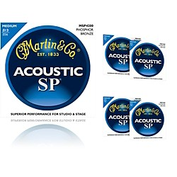 Martin MSP4200 Phosphor Bronze Medium Acoustic Guitar Strings (5 Pack) (MSP4200-5PK)