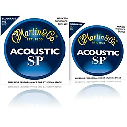 Martin MSP4250 SP Phosphor Bluegrass Medium Acoustic Guitar Strings 2 Pack (MSP4250-2PK)