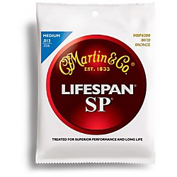 Martin SP 6200 80/20 Bronze Lifespan Coated Acoustic Strings Medium (41MSP6200)