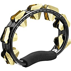 Meinl ABS Super-Dry Studio Tambourine, One Row (STMT1B-BK)