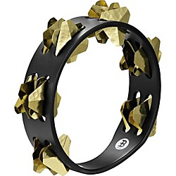 Meinl Compact Super-Dry Wood Tambourine Two Rows Brass Jingles (CSTA2B-BK)