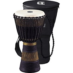 Meinl Earth Rhythm Series Original African-Style Rope-Tuned Wood Djembe with Bag (ADJ3-M+BAG)