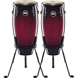 "Meinl Headliner Series 10"" & 11"" Wood conga set with Basket Stands (HC555WRB)"