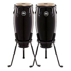Meinl Headliner Series 10 and 11 Inch Wood Conga Set with Basket Stands (HC555BK)
