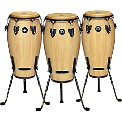 Meinl Luis Conte 3 Piece Conga Set with Free Basket Stands (KIT-445855)