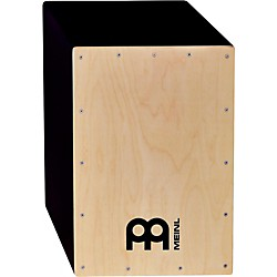 Meinl Pure Black Hardwood Cajon with Natural Frontplate (MCAJ2N-PB)