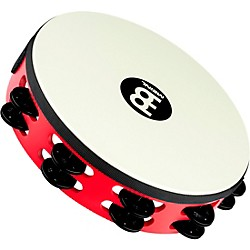 Meinl Touring Synthetic Head Wood Tambourine Two Rows (TAH2BK-R-TF)