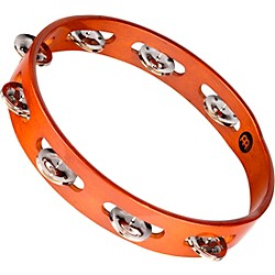 Meinl Wood Tambourine One Row Steel Jingles (TA1AB)