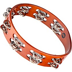 Meinl Wood Tambourine Two Rows Steel Jingles (TA2AB)