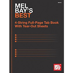 Mel Bay 4-String Full-Page Tab Book (9780786685431)