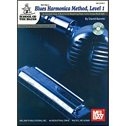 Mel Bay Blues Harmonica Method, Level 1 Book and CD (21053BCD)