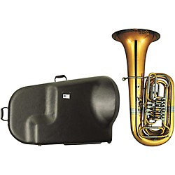 Miraphone 186-4U Series 4-Valve Yellow Brass BBb Tuba with Hard Case (186-4U KIT)