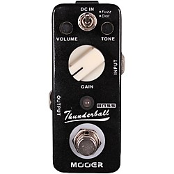 Mooer Thunderball Micro Fuzz & Distortion Bass Guitar Effects Pedal (USED004000 ThunderBall)