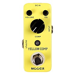 Mooer Yellow Comp Optical Compressor Guitar Effects Pedal (USED004000 Yellow Comp)