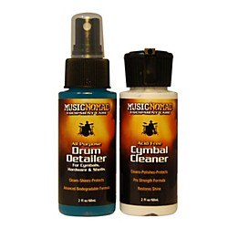Music Nomad Cymbal Cleaner and Drum Detailer Combo Pack (2 oz.) (MN117)