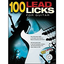 Music Sales 100 Lead Licks For Guitar (Book/CD) (14037645)