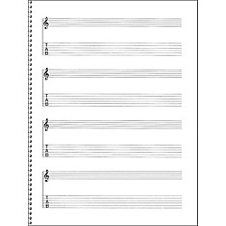 Music Sales Passantino Guitar Manuscript Paper Spiral pad #159 - 4 Staves, 64 Pgs, 9X12 (14025122)