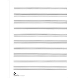 Music Sales Passantino Music Paper Filler No.2 96 Pages, 8.5X11, 3 Ring (14025113)