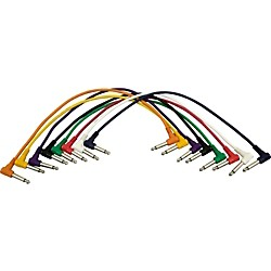 "Musician's Gear 1/4 - 1/4 Patch Cable 8-Pack (17"") (PC18-17QTR-330247)"