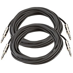 Musician's Gear 16 Gauge Speaker Cable Black 25 Feet 2-Pack (KIT870780)