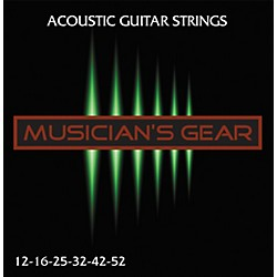 Musician's Gear Acoustic 12 80/20 Bronze Acoustic Guitar Strings (HQ Acoustic 80/20 12)
