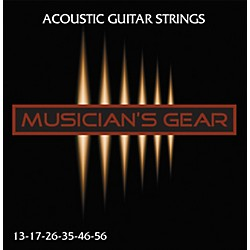 Musician's Gear Acoustic 13 80/20 Bronze Guitar Strings (HQ Acoustic 80/20 13)