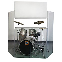 Musician's Gear Acrylic Drum Shield with Removable Front Panel (VDS-6RFP)