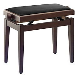 Musician's Gear Adjustable-Height Piano Bench (PB40 WNM VBK)