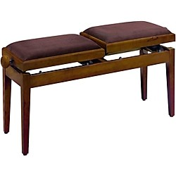 Musician's Gear Double Adjustable Piano Bench (PB245WNM VBR UK)