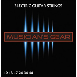 Musician's Gear Electric 10 Nickel Plated Steel Guitar Strings (HQ Electric 10-46)