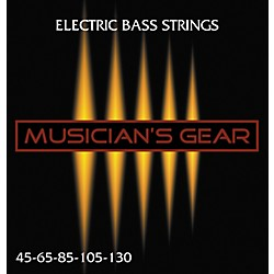 Musician's Gear Electric 5-String Nickel Plated Steel Bass Strings (HQ Bass 5 String)